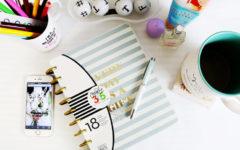 planner on desk