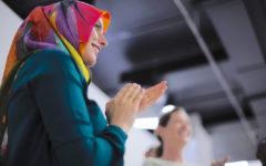 young woman wearing hijab