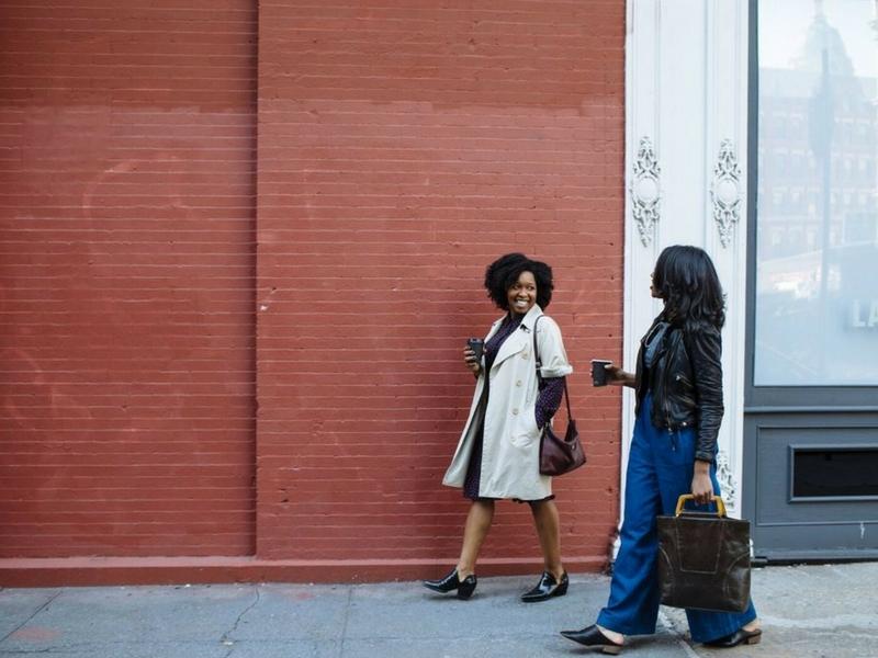 women walking in new york city